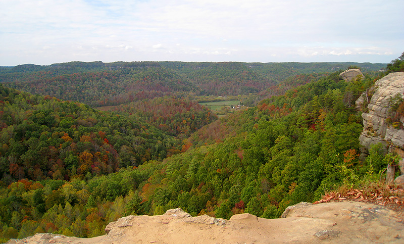 Red River Gorge fall foliage Kentucky in the fall
